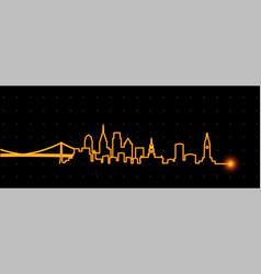 Philadelphia light streak skyline vector