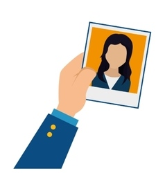 Photo of person for document vector