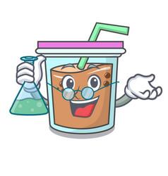 Professor bubble tea character cartoon vector