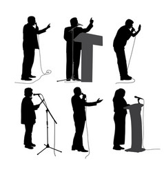 public speaking vector image