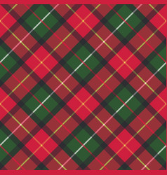 Red classic plaid pixel texture seamless pattern vector