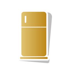Refrigerator sign golden vector