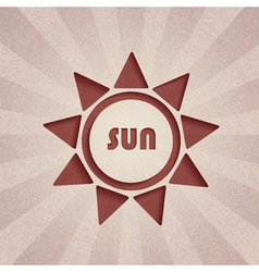 retro sun vector image