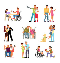 romantic relationships disabled people vector image