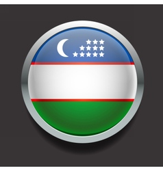 Round flag of Uzbekistan vector image