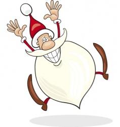 Santa claus jump vector