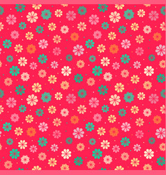 Seamless kid floral pattern vector
