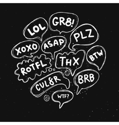 Set of acronyms and abbreviations vector image