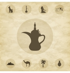 Set of icons of Egypt vector image