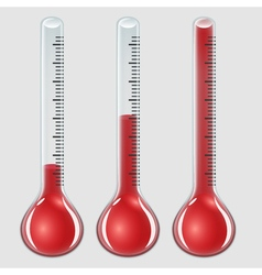 set of thermometers vector image