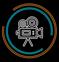 simple video camera thin line icon vector image