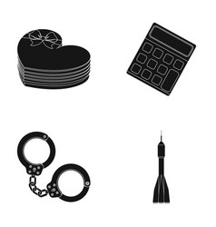 Space gift law and other web icon in black style vector