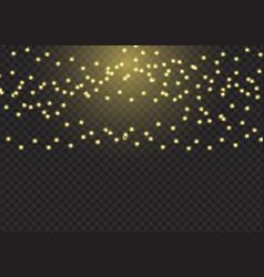 sparkling christmas lights background vector image