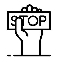 Stop violence icon outline style vector