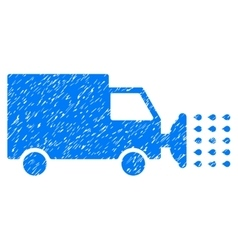 Street Washing Car Grainy Texture Icon vector