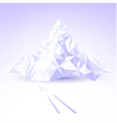 stylized mountain for skiing vector image
