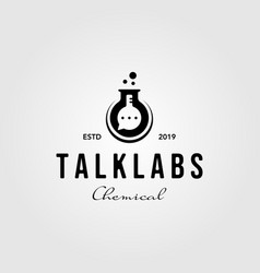 talk labs nature vintage logo badge icon vector image