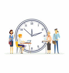 time management for business - modern cartoon vector image
