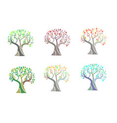 trees - design elements vector image