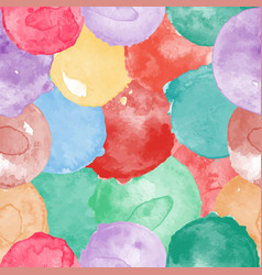 watercolor seamless colorful pattern vector image