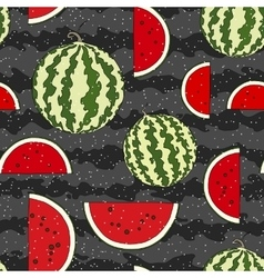 Watermelon seamless pattern hand drawn vector