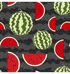 Watermelon seamless pattern hand drawn vector