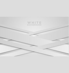 white paper cut background abstract papercut vector image