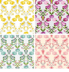 carnation and tulip seamless pattern vector image vector image