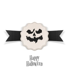 Happy Halloween Banner with Ribbon Template vector image vector image
