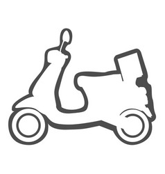 isolated motoecycle icon vector image