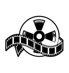 movie roll reel vector image vector image