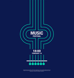 music abstract modern poster concert vector image vector image