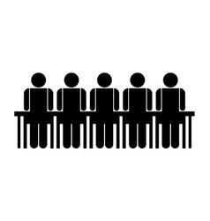 people in meeting symbol vector image vector image