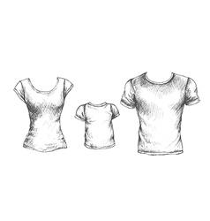 tshirts vector image vector image