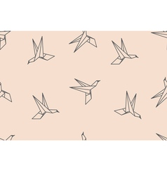 birds origami ornament vector image