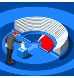 Election infographic parliament vote isometric vector