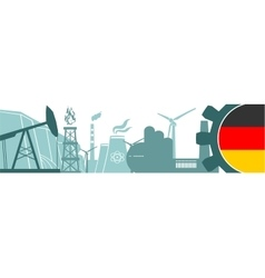 Energy and Power icons set Germany flag vector image vector image
