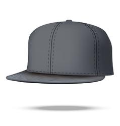 Layout of Male black rap cap vector image vector image