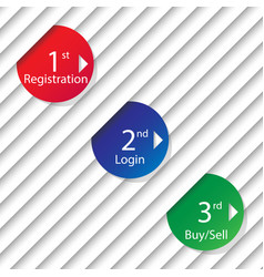 numbered templates - design vector image