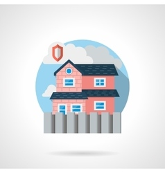 Residential security color detailed icon vector image