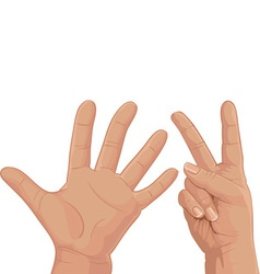 Seven from fingers vector image vector image