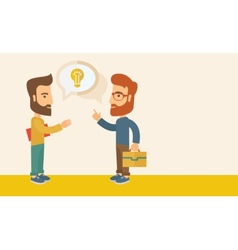 Two men sharing ideas vector image