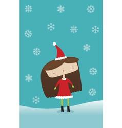Winter Holiday Girl vector image