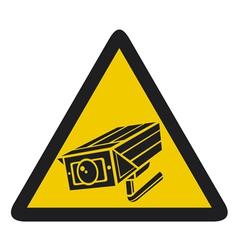 Camera surveillance sign - CCTV triangle symbols vector image vector image