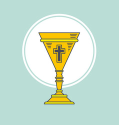 cup chalice first communion icon graphic vector image vector image