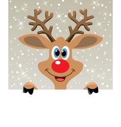 happy red nosed reindeer vector image vector image