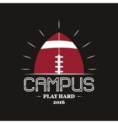 American football campus logotype emblem label vector image vector image