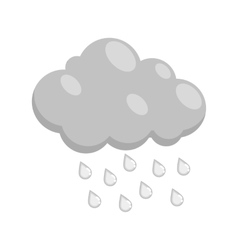 Cloud with rain icon black monochrome style vector image