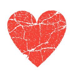 grunge paer red heart transparent vector image