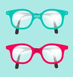 Retro Glasses Set vector image